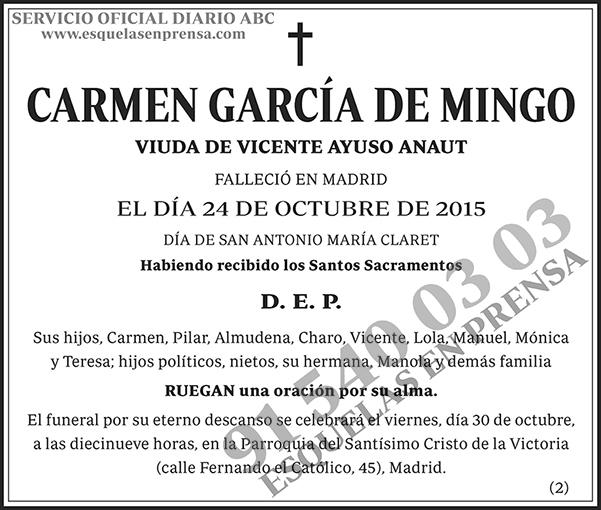 Carmen García de Mingo
